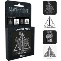 Harry Potter Deathly Hallows Coaster Pack - Harry Potter Gifts