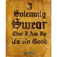 Harry Potter I Solomnly Swear Mini Poster - Harry Potter Gifts