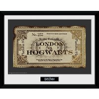 Harry Potter Ticket Framed Collector Print - Harry Potter Gifts