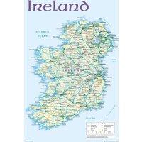 Ireland Map 2012 Maxi Poster