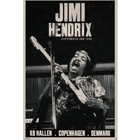 Jimi Hendrix Copenhagen Maxi Poster - Jimi Hendrix Gifts