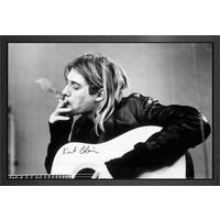 Kurt Cobain Smoking Framed Maxi Poster - Smoking Gifts