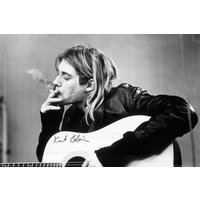 Kurt Cobain Smoking Maxi Poster - Smoking Gifts