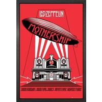 Led Zeppelin Mothership Framed Maxi Poster - Led Zeppelin Gifts