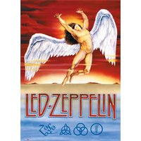 Led Zeppelin Swan Song Maxi Poster - Led Zeppelin Gifts