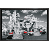 London Tower Bridge Buses Framed Maxi Poster - Gbposters Gifts