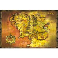 Lord Of The Rings Classic Map (Exclusive) Maxi Poster - Lord Of The Rings Gifts