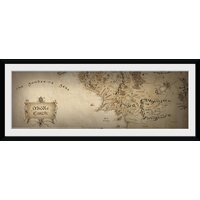 Lord Of The Rings Map Framed Collector Print - Lord Of The Rings Gifts