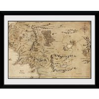 Lord Of The Rings Map Framed Collector Print 20x15cm - Lord Of The Rings Gifts