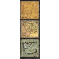 Lord of the Rings Maps of Middle Earth Door Poster - Lord Of The Rings Gifts