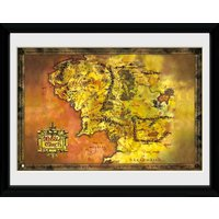 Lord Of The Rings Middle Earth Framed Collector Print - Lord Of The Rings Gifts