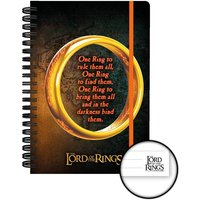 Lord of the Rings One Ring A5 Notebook - Lord Of The Rings Gifts