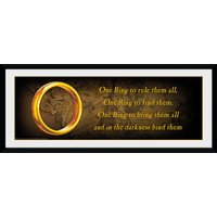 Lord of the Rings One Ring Framed Collector Print - Lord Of The Rings Gifts
