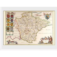 Maps Devon Framed Collector Print - Maps Gifts