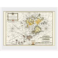 Maps Isle Of Scilly Framed Collector Print - Maps Gifts