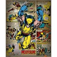 Marvel Comics Wolverine Retro Mini Poster - Wolverine Gifts