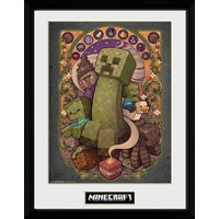 Minecraft Creeper Nouveau Framed Collector Print - Minecraft Gifts