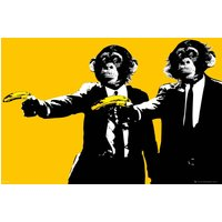 Monkeys Bananas Maxi Poster - Monkeys Gifts