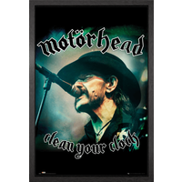 Motorhead Clean Your Clock Framed Maxi Poster - Motorhead Gifts