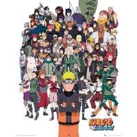 Naruto Shippuden Group Mini Poster - Naruto Gifts