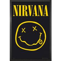 Nirvana Smiley Framed Maxi Poster - Nirvana Gifts