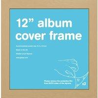 Oak 12 Record Sleeve Album Frame