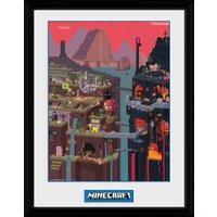 Minecraft World Collector Print - Minecraft Gifts