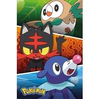 Pokemon Alola Partners Maxi Poster - Pokemon Gifts