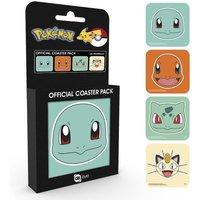 Pokemon Faces Coaster Pack - Pokemon Gifts