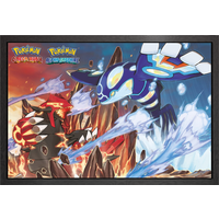 Pokemon Groudon and Kyogre Framed Maxi Poster - Pokemon Gifts