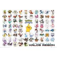 Pokemon Kalos Region Maxi Poster - Pokemon Gifts