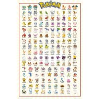 Pokemon Kanto 151 Maxi Poster - Pokemon Gifts