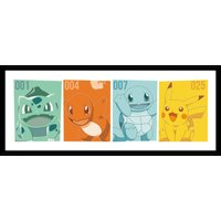 Pokemon Kanto Partners Framed Collector Print - Pokemon Gifts