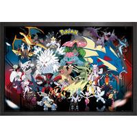 Pokemon Mega Framed Maxi Poster - Pokemon Gifts