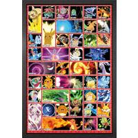 Pokemon Moves Framed Maxi Poster - Pokemon Gifts