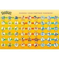 Pokemon Partner Pokemon Maxi Poster - Pokemon Gifts