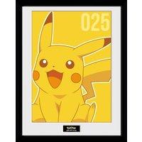Pokemon Pikachu Mono Collector Print - Pokemon Gifts