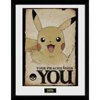 Pokemon Pikachu Needs You Collector Print - Pokemon Gifts