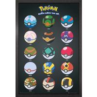 Pokemon Pokeballs Framed Maxi Poster - Pokemon Gifts