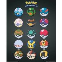 Pokemon Pokeballs Mini Poster - Pokemon Gifts