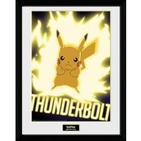 Pokemon Thunder Bolt Pikachu Collector Print - Pokemon Gifts