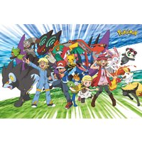 Pokemon Traveling Party Maxi Poster - Pokemon Gifts