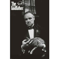 The Godfather Cat B & W Maxi Poster - The Godfather Gifts