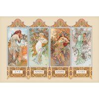 Mucha 4 Seasons Maxi Poster - Art Gifts