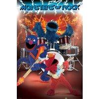 Sesame Street Monsters of Rock Maxi Poster - Sesame Street Gifts