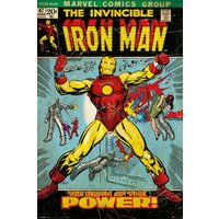 Iron Man Birth Of Power Maxi Poster - Iron Man Gifts