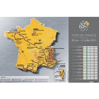 Le Tour De France 2013 Map Maxi Poster - Poster Gifts