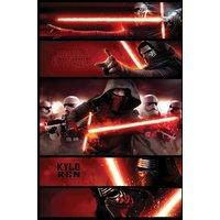 Star Wars Episode 7 Kylo Ren Panels Maxi Poster - Star Wars Gifts