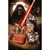 Star Wars Episode 7 Montage Maxi Poster - Star Wars Gifts