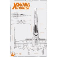 Star Wars Episode 7 X Wing Plans Maxi Poster - Gbposters Gifts